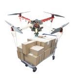 手工制造quadcopter寄生虫 免版税图库摄影