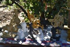 手工小雕象在梅利托波尔 免版税库存图片