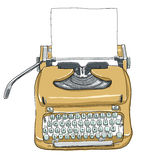 手工控制台打字机键盘便携式葡萄酒 库存图片