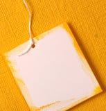 手工纸标签 免版税库存图片