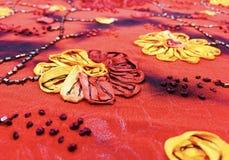 手工缝制的中国花 免版税库存图片
