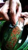 手工造亮漆缅甸商品 免版税库存照片