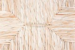 手工造织法柳条纹理背景 免版税库存照片