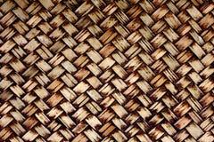 手工造织法自然柳条 免版税图库摄影