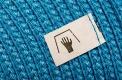 手工洗涤标签 免版税库存图片