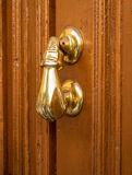 手形状的通道门环细节  库存照片