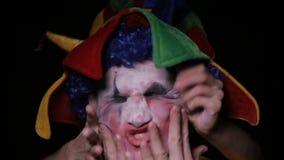 手把邪恶的可怕小丑带到地狱 股票视频