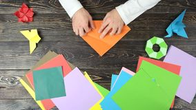 手折叠纸片做图 影视素材