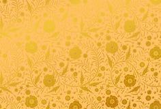 手拉传染媒介无缝的花卉样式的设计:金黄鸦片 免版税库存图片