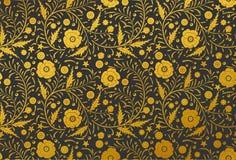手拉传染媒介无缝的花卉样式的设计:金黄鸦片 库存照片