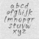 手拉和速写的字体,传染媒介剪影样式字母表 免版税库存照片
