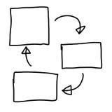 手拉图形符号几何形状图表对输入 库存图片