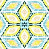 手拉抽象无缝的几何的样式 库存照片