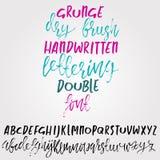 手拉烘干刷子字法 难看的东西样式字母表 手写的字体 也corel凹道例证向量 皇族释放例证