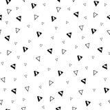 手拉的三角几何无缝的样式 免版税图库摄影