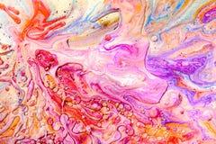 手拉的丙烯酸酯的绘画 抽象派背景 颜色纹理 艺术品的片段 抽象绘画背景 免版税库存照片