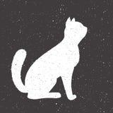 手拉的丝毫猫 免版税库存图片