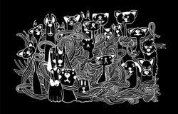手拉的乱画宠物背景 库存照片