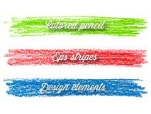 手拉的五颜六色的条纹。 免版税库存图片