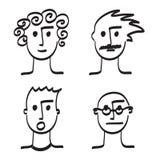 手拉的人面孔传染媒介例证象 库存图片