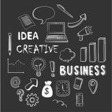 手拉的企业元素 免版税库存照片