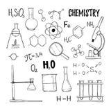 手拉的传染媒介例证 化学,化学元素, t 库存图片