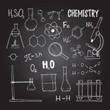 手拉的传染媒介例证 化学,化学元素, t 免版税库存照片