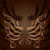 手拉的传染媒介zentangle蝴蝶例证 装饰抽象乱画设计元素 库存图片