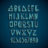 手拉的传染媒介英语字母表信件 免版税库存照片