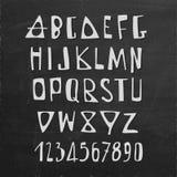 手拉的传染媒介英语字母表信件 免版税图库摄影