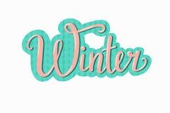 手拉的冬天传染媒介例证 免版税图库摄影