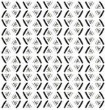 手拉的几何三角无缝的样式 库存图片