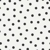 手拉的几何无缝的墨水圆点样式 饮料例证纸张减速火箭主题向量包裹 抽象背景向量 圆的刷子冲程 免版税库存照片