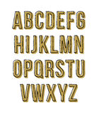 手拉的剪影字母表 也corel凹道例证向量 免版税图库摄影