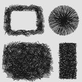 手拉的剪影概略的孵化难看的东西纹理 免版税库存图片