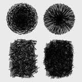 手拉的剪影概略的孵化难看的东西纹理 库存照片