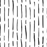 手拉的单色黑白无缝的抽象样式 墨水剪影纹理和背景 免版税图库摄影