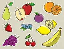 手拉的向量果子 免版税图库摄影