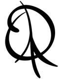 手拉的和平标志传染媒介例证 免版税库存照片