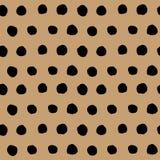 黑手拉的圆点无缝的样式传染媒介 皇族释放例证