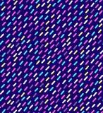 手拉的在减速火箭的孟菲斯样式的传染媒介无缝的样式 80s迪斯科在明亮的颜色的样式装饰品织品的,包装纸, 库存图片