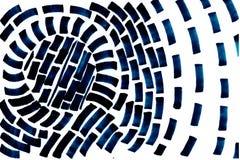 手拉的在白色背景的漩涡深蓝抽象形状 向量例证