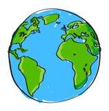 手拉的地球 免版税库存照片
