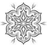 手拉的坛场摘要圈子装饰品传染媒介例证 免版税库存图片