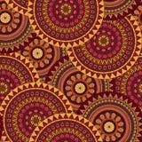 手拉的坛场种族无缝的样式 免版税图库摄影