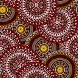 手拉的坛场种族无缝的样式 免版税库存照片
