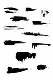 手拉的墨水飞溅传染媒介集合 皇族释放例证