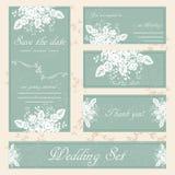 手拉的婚礼邀请卡片, boho样式,传染媒介 免版税库存图片