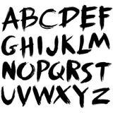 手拉的字体 免版税库存图片