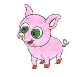 手拉的小猪 免版税库存图片